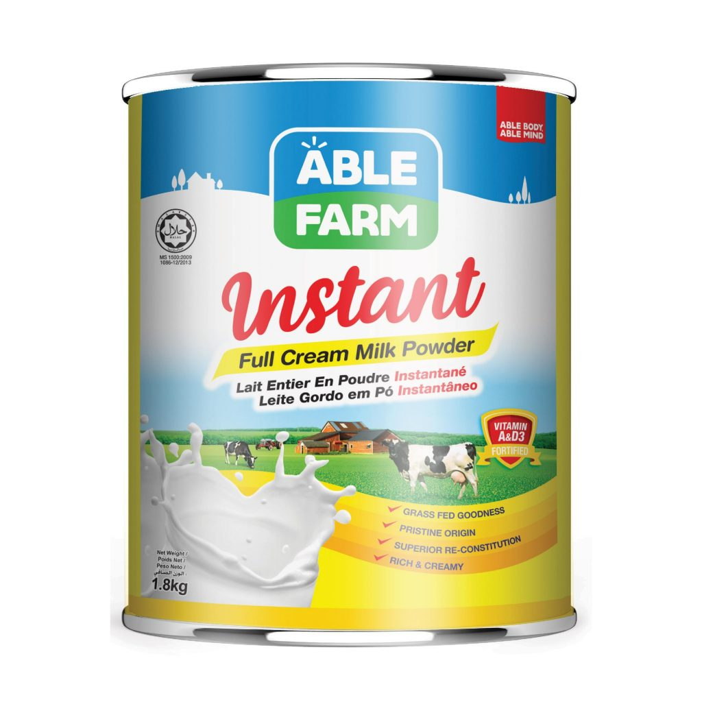 Able Farm Instant Full Cream Milk Powder