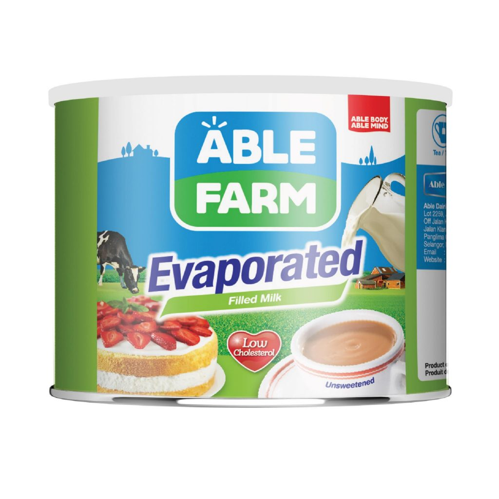 Able Farm Evaporated Filled Milk